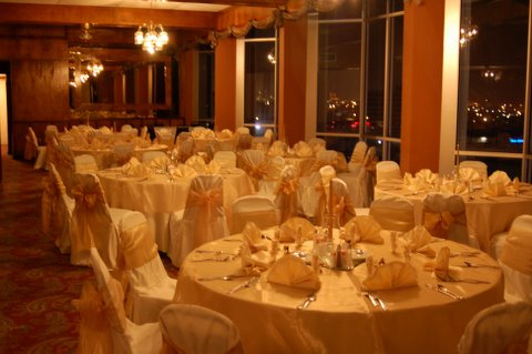 gold themed anniversary party