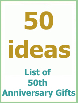 50 anniversary gifts