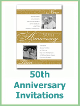 50th anniversary invitation idea