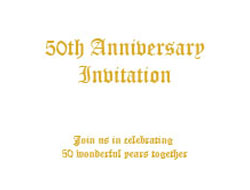 free printable 50th anniversary invitation