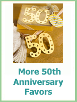 fiftieth anniversary party favor