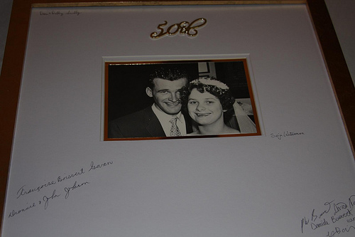 50th anniversary photo guest book