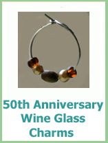 50th anniversary wine glass charms