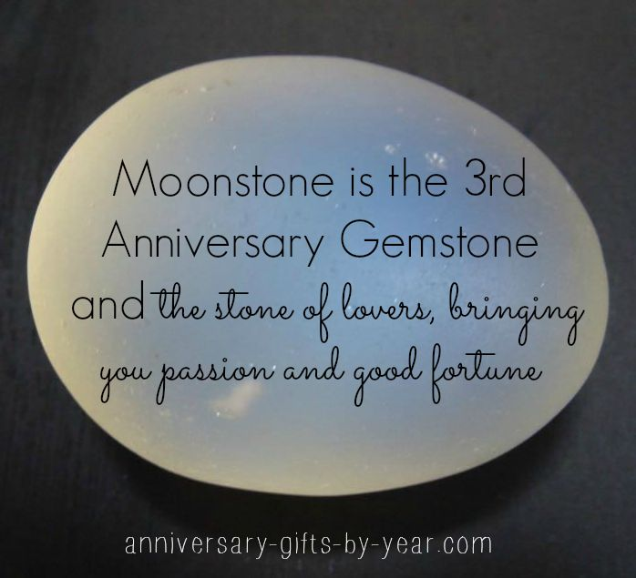 3rd anniversary symbol - Moonstone on the gemstone list