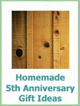 homemade traditional 5th anniversary gifts ideas