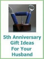5th anniversary gift ideas for your husband