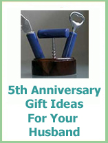 5th anniversary gifts for your husband