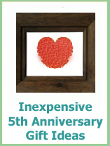 inexpensive 5th anniversary gift ideas