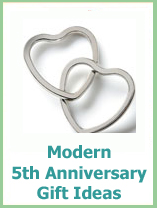 modern 5th wedding anniversary gift ideas