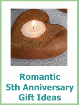 romantic 5th anniversary gift ideas