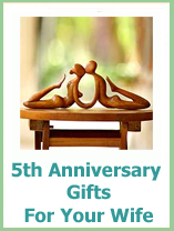 5th anniversary gift ideas for your wife