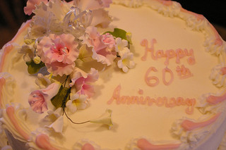60th wedding anniversary cake for grandparents