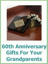 grandparents 60th wedding anniversary gift ideas