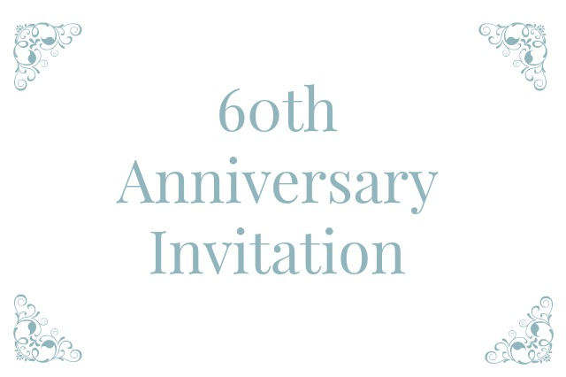 60th Anniversary Invitation Templates. 60th Wedding Anniversary Wording