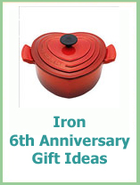 6th wedding anniversary gift ideas in iron
