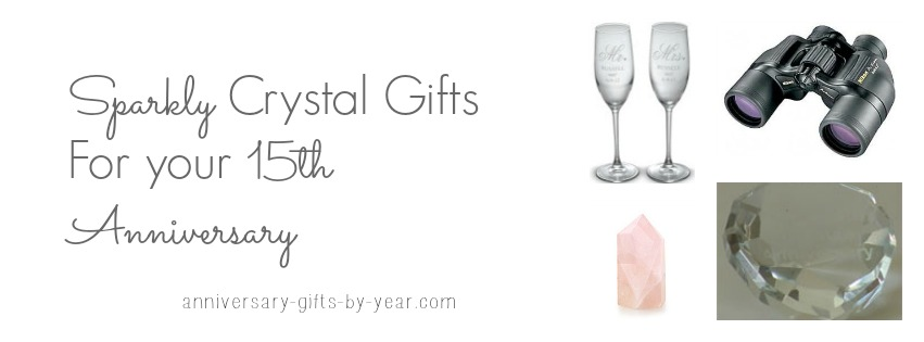 crystal gifts for 15th anniversary