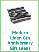 linen wedding anniversary gift ideas