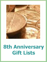 8th anniversay gift lists