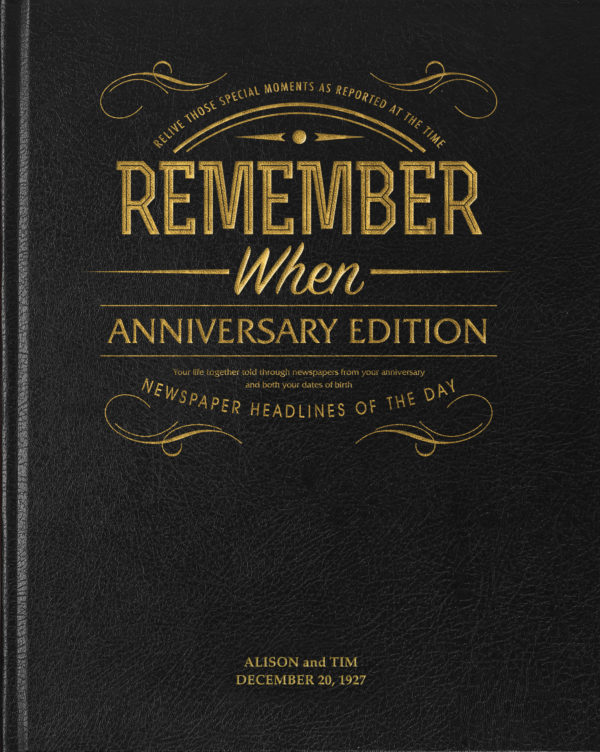 1st anniversary keepsake book