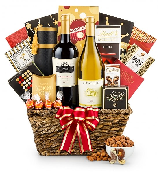 California wine Anniversary gift basket
