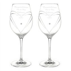 personalized 60th anniversary wine glasses