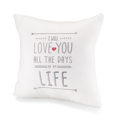 2nd anniversary love pillow