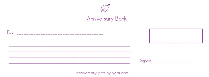 printable anniversary checks