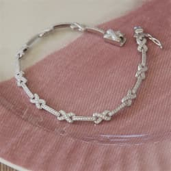 crystal anniversary bracelet with personalized gift box
