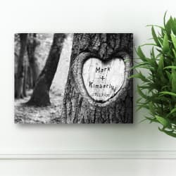 personalized 2nd anniversary canvas