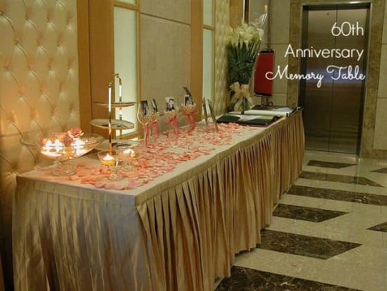 50th anniversary memory table