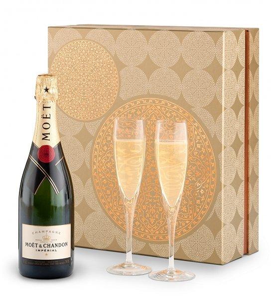 Champagne Anniversary gift basket