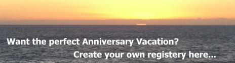 anniversary vacation registery