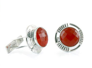 carnelian cufflinks