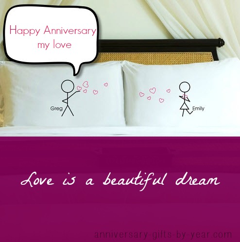personalized couples anniversary pillows