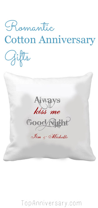 romantic cotton anniversary gifts