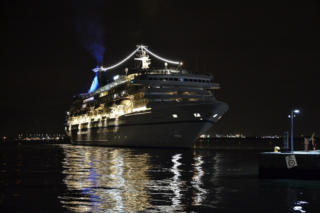 anniversary cruise at night