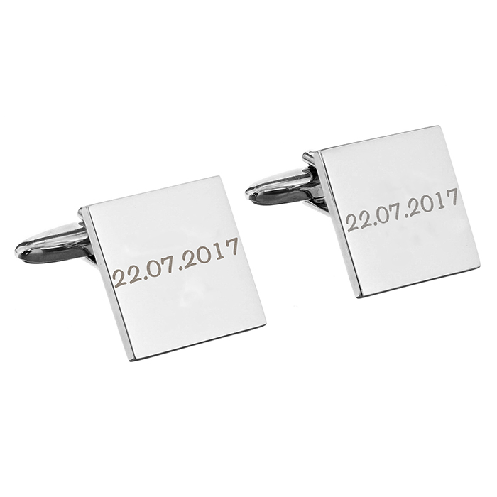 cuff links engraved with wedding date