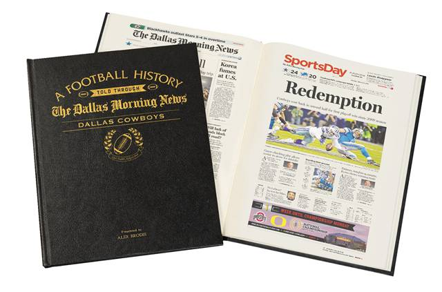 personalized football newspaper book - anniversary gift for husband