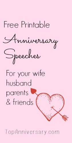 Free Anniversary Speeches For You To