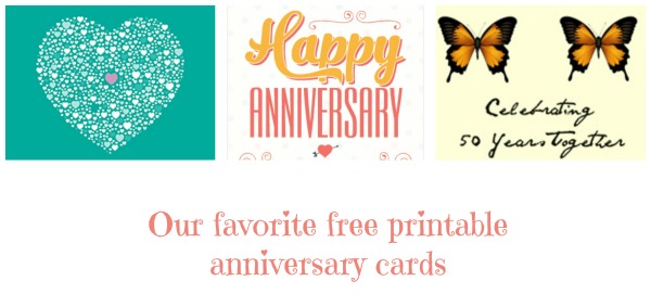 Find Your Perfect Anniversary Gift  Free Printable Anniversary Cards