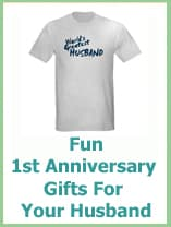 fun 1st anniversary gifts for your husband