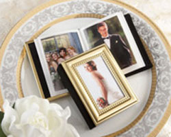 gold memory book favor