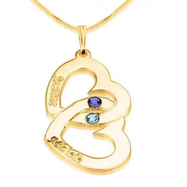 anniversary gemstone gold necklace