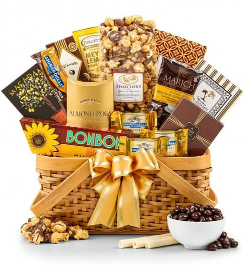 golden anniversary gift basket for grandparents