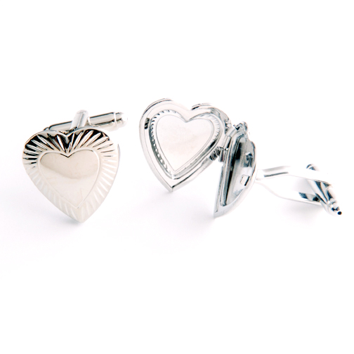 heart locket cufflinks