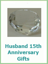 15th anniversary gifts for husband