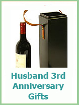 husband 3rd wedding anniversary gifts