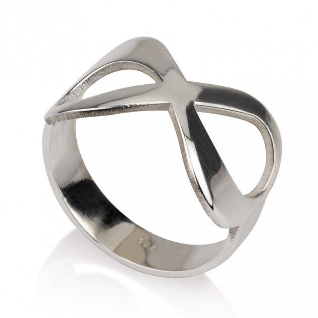 Silver infinity anniversary ring