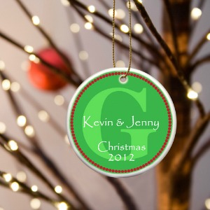 couple's 1st christmas tree decoration