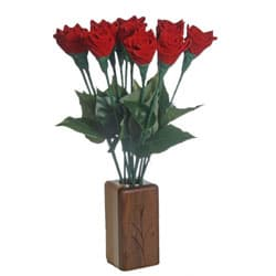 leather anniversary roses
